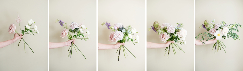Protea flower focus with cascading eucalyptus and long ribbons