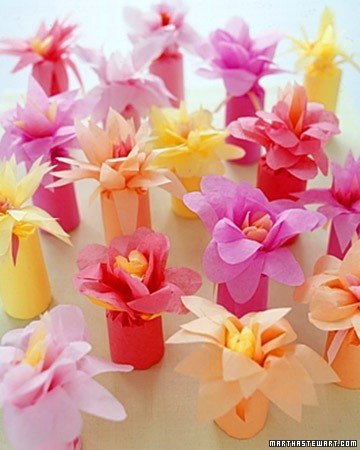 flower wrapped favors