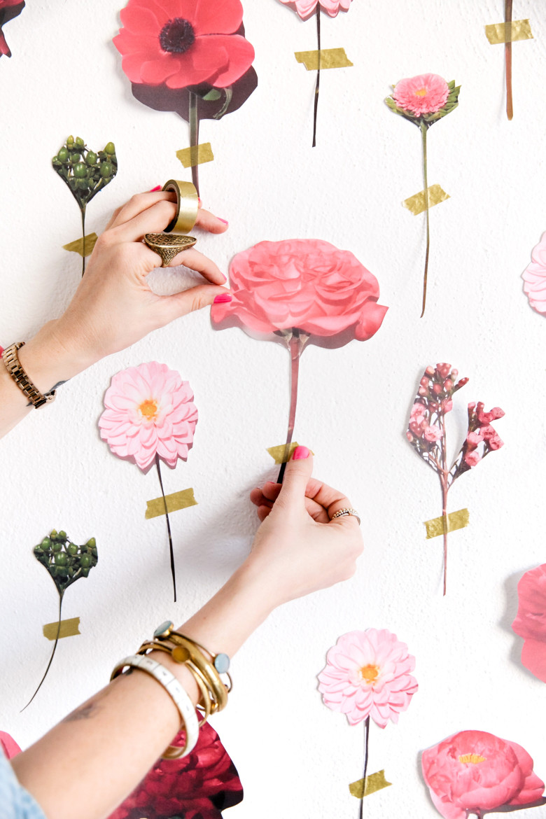 diy flower wall made from paper flowers