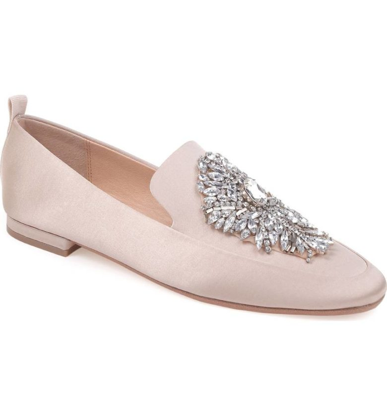 loafers with crystals on top
