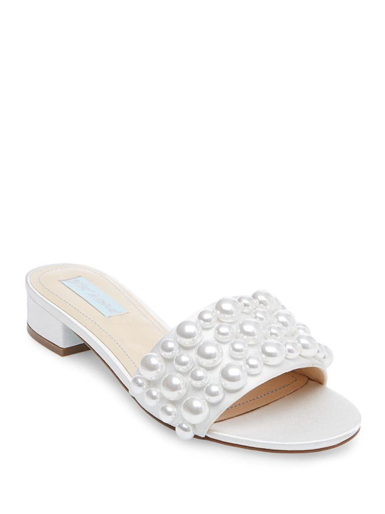 white shoes with pearls