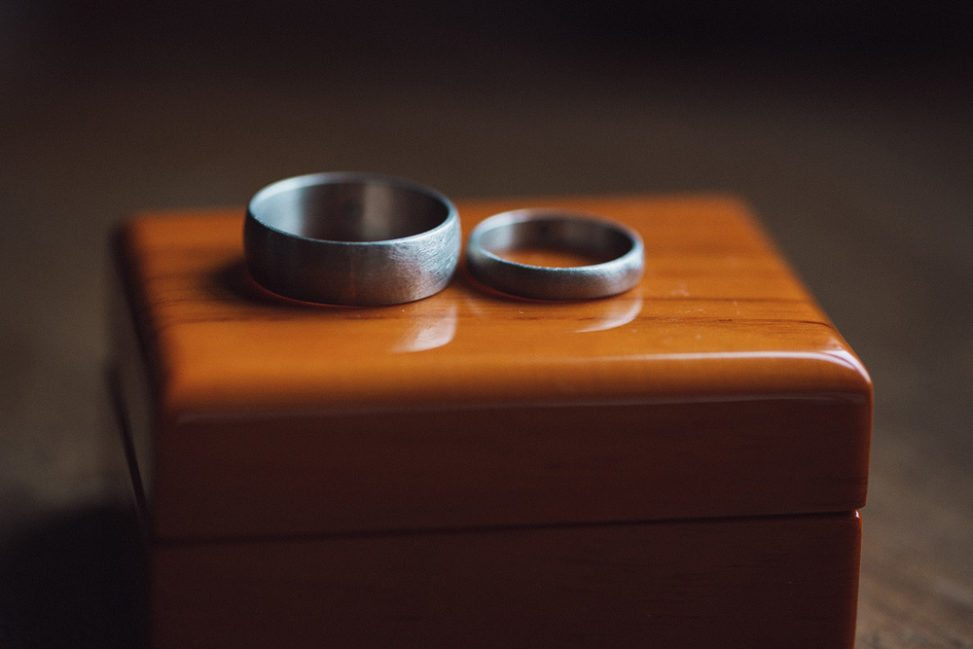 Silver hand made wedding bands