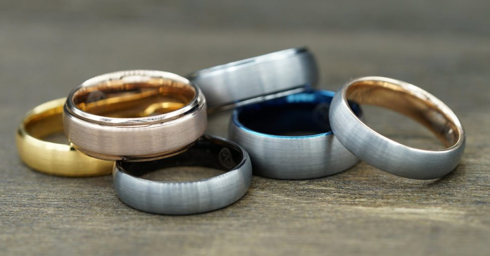 set of 6 manly bands rings