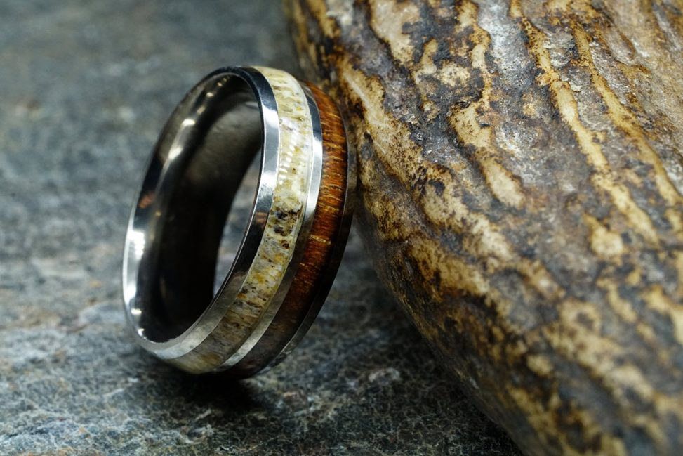 manly bands ring with bone