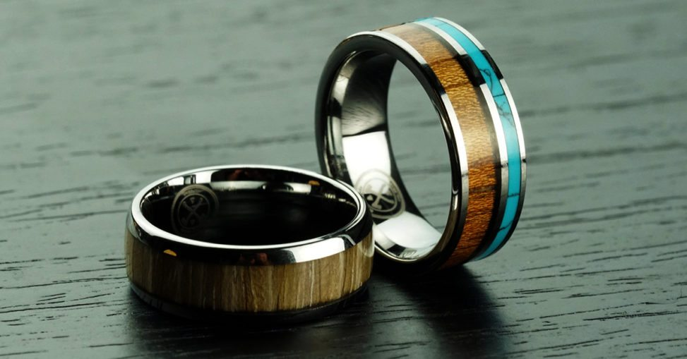 two manly bands rings