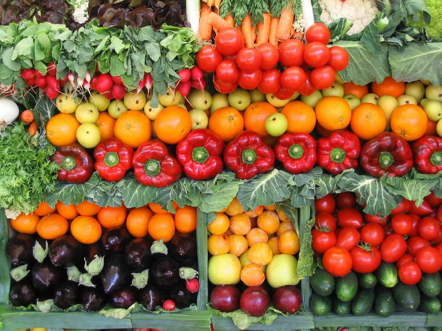 peppers, vegetables and fruits from Chelsea CSA website