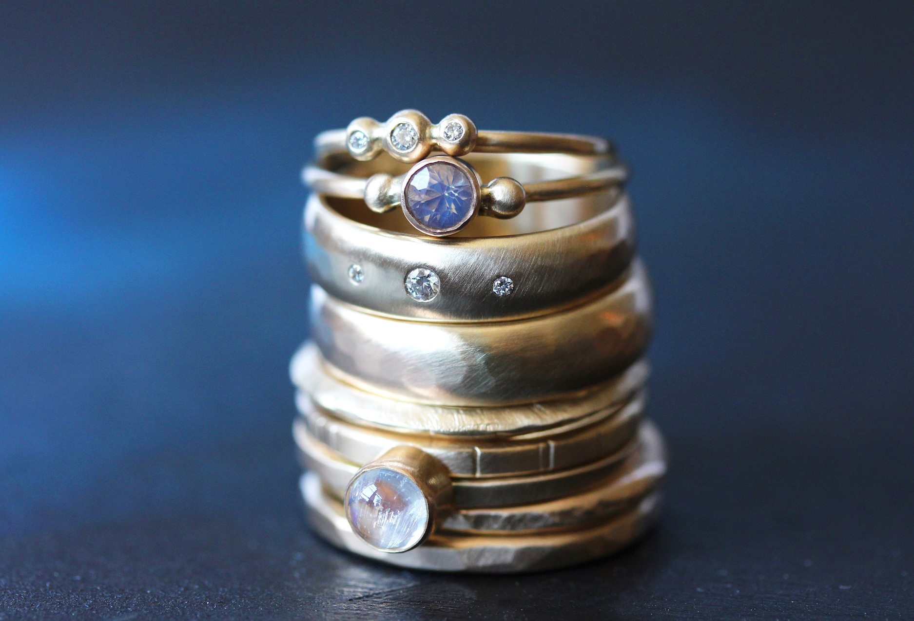 a stack of rings of magical brilliance