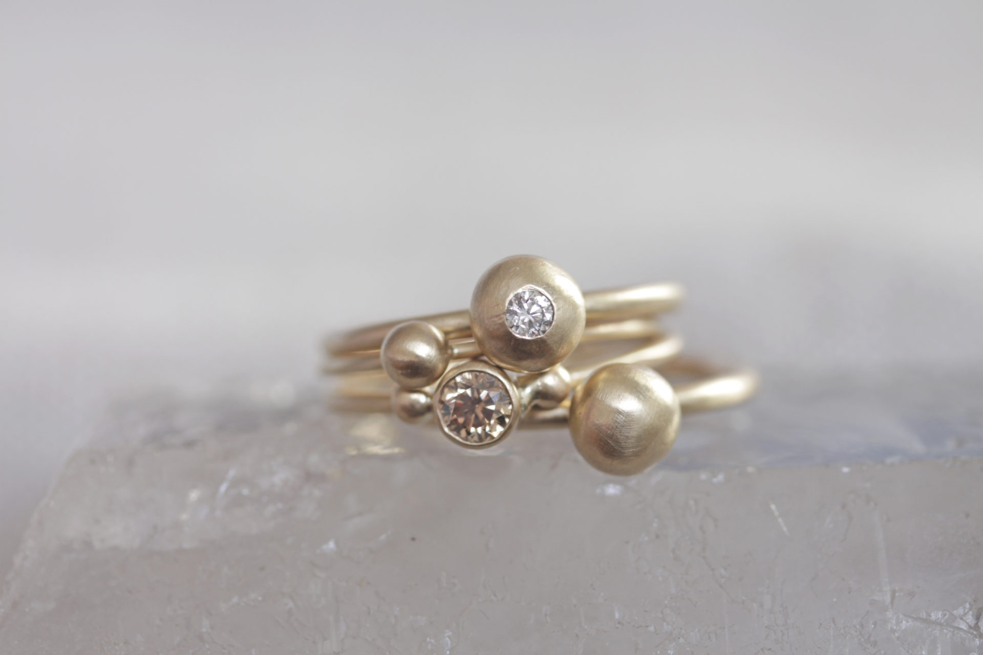 Triple stacked Orb and Grand Pré Rings